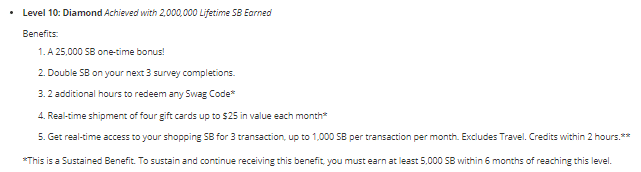 swagbucks diamond level membership
