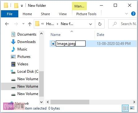Change a File Extension in Windows 10-8