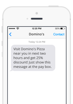 Dominos promotional text message