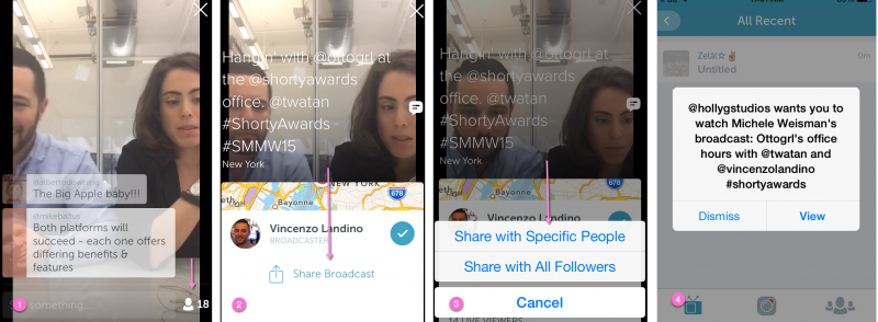 How to share periscope broadcasts with others