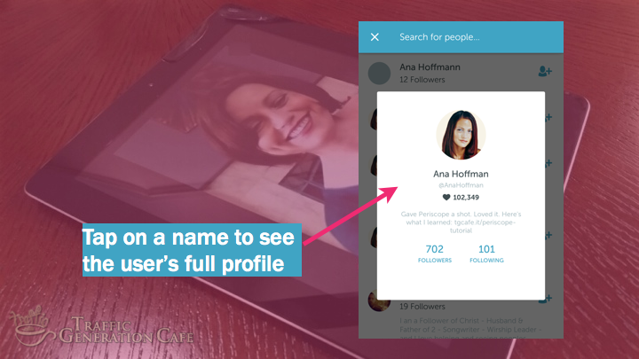 Periscope on Android Tutorial: see full user