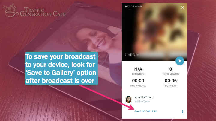 Periscope on Android Tutorial: how to save broadcast to gallery