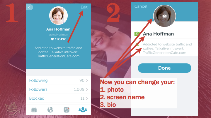 Periscope iOS Tutorial: how to change your Periscope profile
