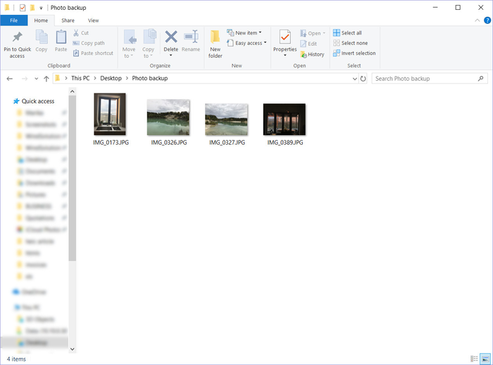 Locate the heic pictures in the folder