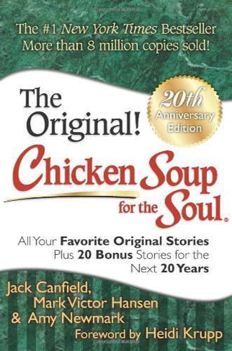 The book cover for chicken soup for the soul.